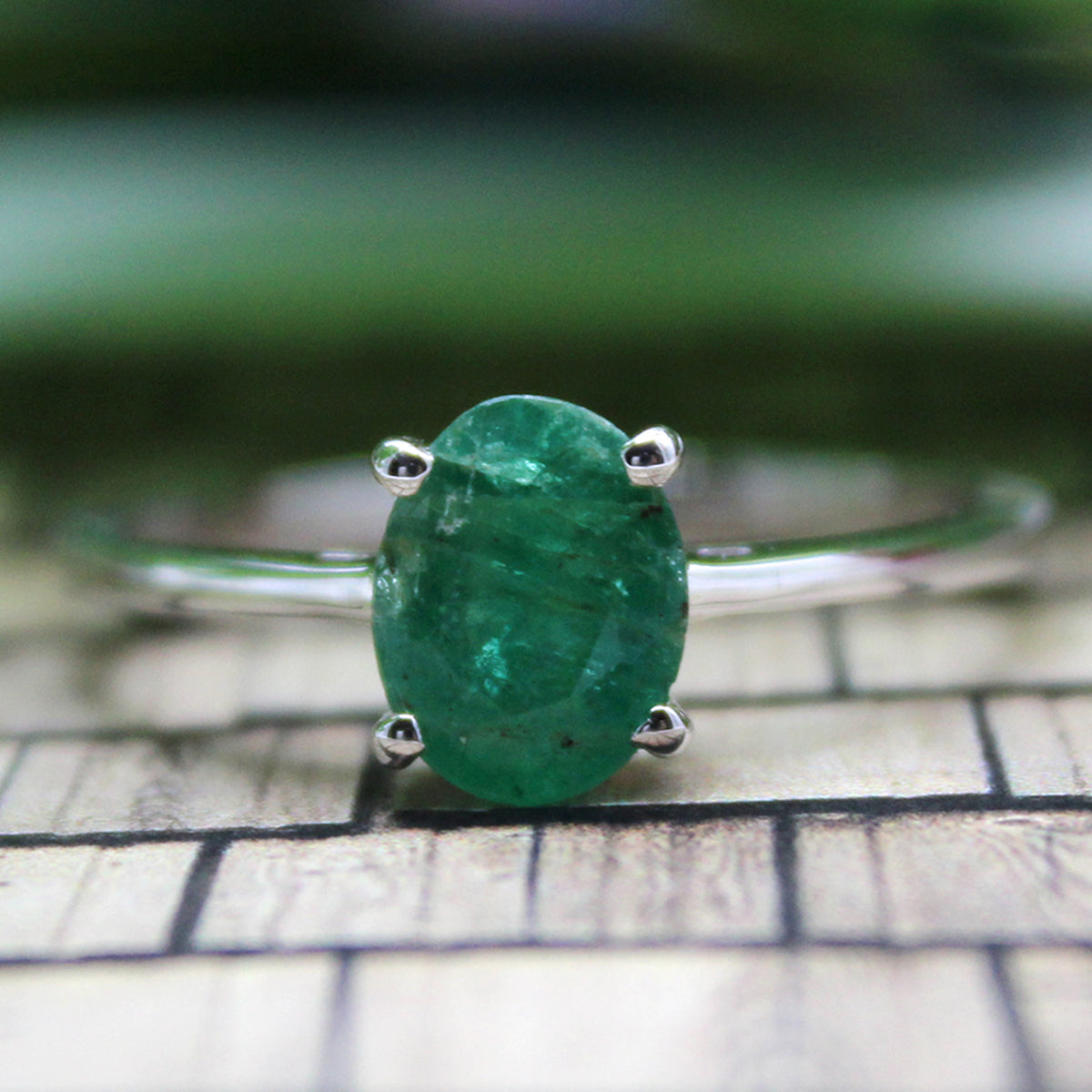 Luck - 5 Ct Aventurine Brushed Gunmetal Cuff