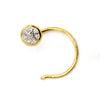 DIAMOND Nose Pin 18KT Yellow Gold IGI Certified 0.03 CT VVS clarity F-G Color