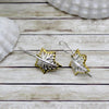 Leaf Drop Metal Fine Earrings