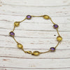 Amethyst Citrine Beaded Anklet