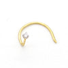 Tiny Sparkle DIAMOND Nose Pin 18k Yellow Gold 0.01 / 0.02 / 0.03 CT VVS F-G