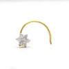 Flower Nose Stud DIAMOND Nose Pin 18k Yellow Gold 0.04 CT VVS F-G IGI Certified