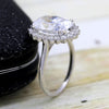 5 CT Diamond Oval Halo Engagement Ring
