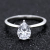 0.90 CT Pear Solitaire Diamond Engagement Ring GIA Certified