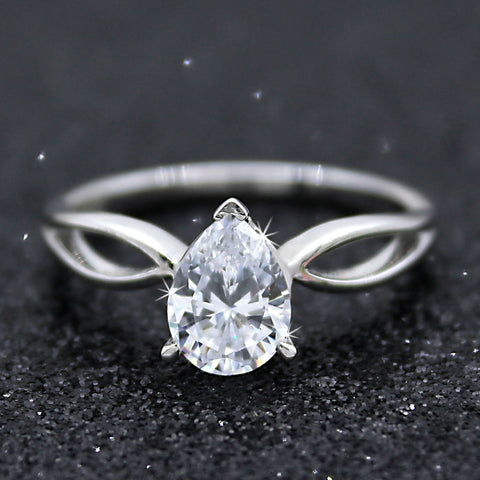 Pear Cut 0.90 CT GIA Certified Diamond Solitaire Engagement Ring