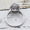 Asymmetric Halo Diamond Engagement Ring