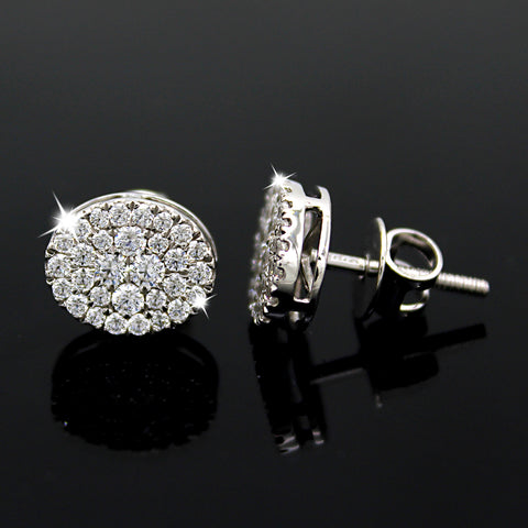 Swarovski Diamond Oval Stud Earrings