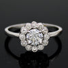 0.50 CT Diamond Halo Engagement Ring