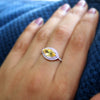 Natural Citrine Marquise Double Halo Engagement Ring