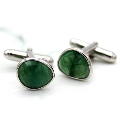 Natural Emerald Cufflinks