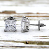 Princess Cut Classic Solitaire Swarovski High Quality Stud Earrings