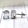 Emerald Cut Classic Solitaire Swarovski High Quality Stud Earrings