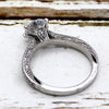 1.00 CT Diamond Solitaire Accents Milgrain Good Quality 14k White Gold Ring
