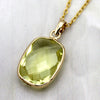 Lemon Quartz Pendant 18k Solid Yellow Gold