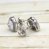 Heart Swarovski Halo Stud Earrings