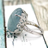 Aquamarine Cabochon Statement Ring