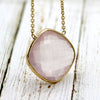 Rose Quartz Fancy Cushion Cut Pendant