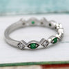 Natural Emerald Stackable Eternity Band