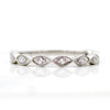 Marquise Half Eternity Stackable Band