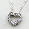 Heart Simulated Diamond Minimalist Pendant