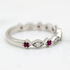 Natural Ruby Sapphire Eternity Band