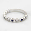 Natural Blue Sapphire Eternity Band