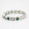 Natural Round Emerald Eternity Band