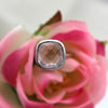 Natural Rose Quartz Love Stone Ring