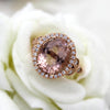 4 CT Natural Morganite Halo Diamond Ring