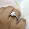 3 CT Asscher Cut Simulated Diamond Engagement Ring
