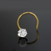 0.20 Ct Diamond Nose Pin 18kt Yellow Gold IGI Certified Classic Round Nose Stud