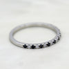 Black Moissanite Engagement/Wedding Stackable Band