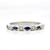 Marquise Natural Blue Sapphire Stackable Eternity Band