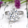 8.50 Ct Round Solitaire Diamond Engagement 9kt White Gold Ring