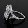 25Ct Cushion Cut Brilliant Halo Swarovski Crystal Wedding Ring