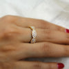 Round Diamond Designer Stackable Wedding 14kt White Gold Band