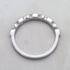 Natural Square Blue Sapphire Stackable Eternity Band
