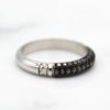 Triple Row Black Moissanite Engagement/Wedding Band