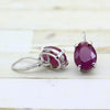 Natural Ruby Dangle Drop Fine Earrings