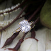 2.00 CT Radiant Cut Halo Diamond Wedding Engagement 14kt Solid Yellow Gold Ring