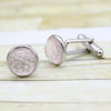 Light Pink Rose Quartz Cufflinks