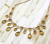 Natural Citrine Grandeur Shinning 18kt Yellow Gold Diamond Necklace