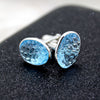 Sky Blue Topaz Hand Carved Cufflinks