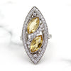 Citrine Edwardian Style Statement Ring