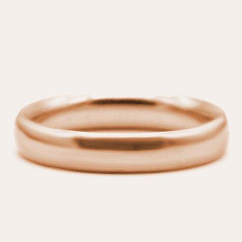 18 KT Rose Gold Classic Men's Plain Wedding Band