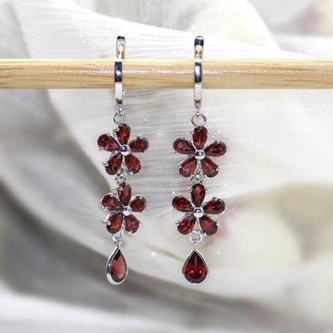Garnet Dangling Earrings
