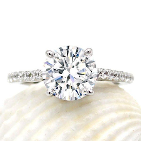 2.5 CT Solitaire with Accents Ring