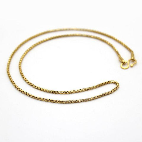 Gorgeous 18 KT Yellow Gold Box Chain