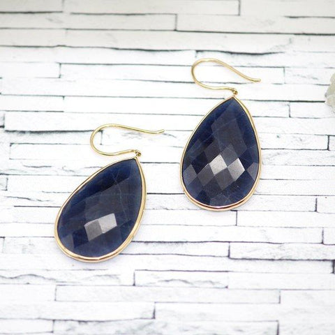 Stunning Huge Blue Sapphire Earrings