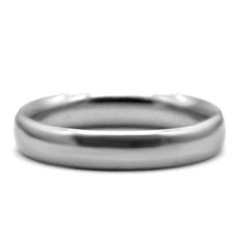 18 KT White Gold Classic Men's Plain Wedding Band